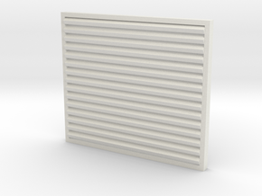 1/32 Peterbilt Louvered Grille (wider) in White Natural Versatile Plastic