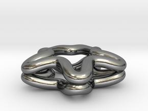 Shining star in Polished Silver: Medium