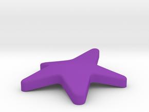Sea star in Purple Processed Versatile Plastic: Medium