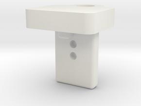 Vauxhall Corsa D Parcel Shelf Strap Lower Clip in White Natural Versatile Plastic