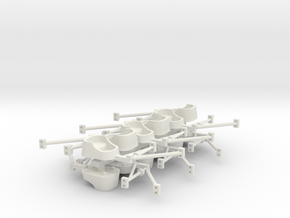 Whip Tubs woth sweeps and attaching arms in White Natural Versatile Plastic