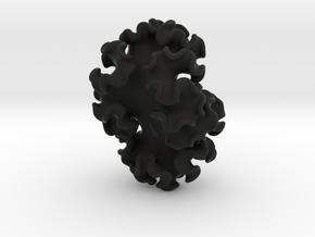 Nudibranch Pendant in Black Natural Versatile Plastic: Large