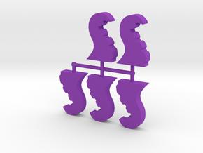 25mm Tentacles, 5-set in Purple Processed Versatile Plastic
