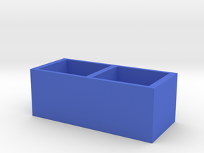 TV cabinet in Blue Processed Versatile Plastic: Large