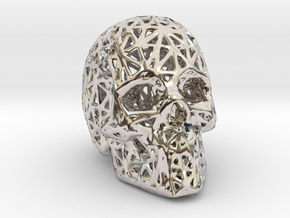 Human Skull with Pattern in Platinum