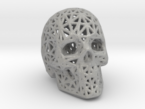 Human Skull with Pattern in Aluminum