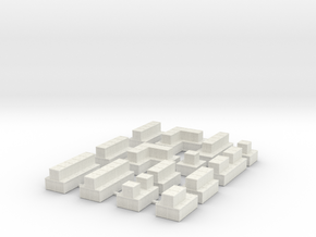 Hesco Barrier Sprue - Double Floor in White Natural Versatile Plastic