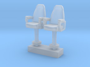 1/125 USN Capt Chair in Smooth Fine Detail Plastic