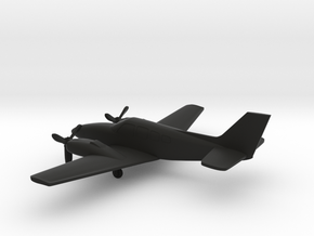 Beechcraft Baron G58 in Black Natural Versatile Plastic: 1:144