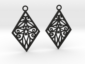Tiana earrings in Black Natural Versatile Plastic: Medium