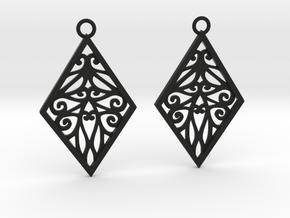 Tiana earrings in Black Natural Versatile Plastic: Medium
