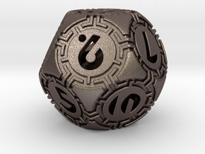 Daedalus D12 in Polished Bronzed-Silver Steel