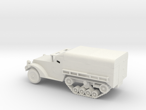 1/72 Scale M3 Halftrack with cover in White Natural Versatile Plastic