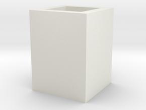 筆筒 in White Natural Versatile Plastic
