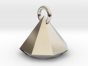 Diamond Upside Down Necklace in Platinum: Large