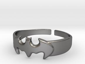 Bat Man Ring One in Polished Nickel Steel