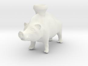 Mid Size Boar Vessel, 600-500 BC, Etruscan in White Natural Versatile Plastic