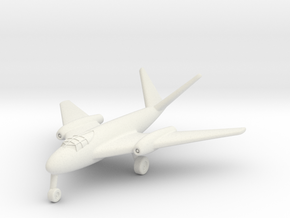 (1:200) Messerschmitt Me P.1101/92 (Mid-wing jet) in White Natural Versatile Plastic