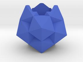 icosa_ish_planter in Blue Processed Versatile Plastic