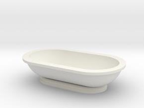 Scale Model Modern Bathroom Tub  in White Natural Versatile Plastic: 1:48 - O