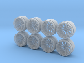 MX-2 9-0 Hot Wheels Rims in Smoothest Fine Detail Plastic