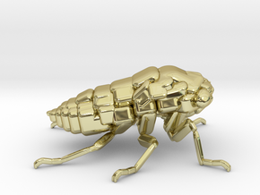 Cicada! The Somewhat Smaller Square-ish Sculpture in 18K Yellow Gold