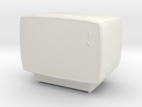 Printle Thing Old TV - 1/24 in White Natural Versatile Plastic