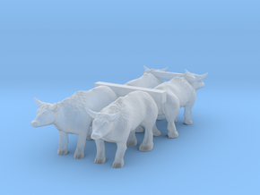 N Scale Oxen Set in Smooth Fine Detail Plastic
