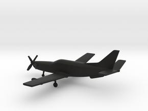 SOCATA TBM 700 in Black Natural Versatile Plastic: 1:160 - N