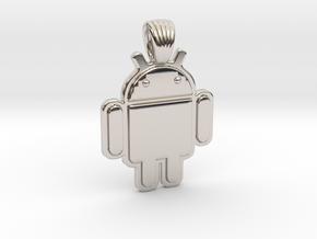 Bugdroid [pendant] in Rhodium Plated Brass