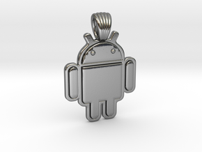 Bugdroid [pendant] in Polished Silver