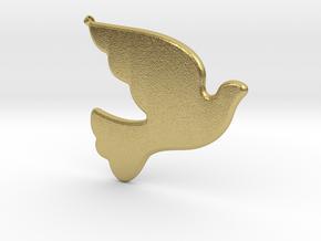 Bird-Dove-01 in Natural Brass
