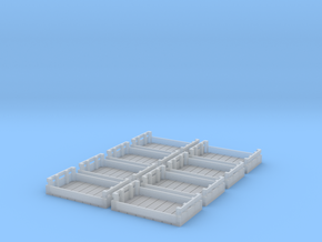 Potato Trays 8x in Smooth Fine Detail Plastic: 1:28