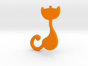 Cad Necklace-20 in Orange Processed Versatile Plastic