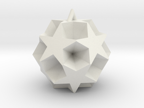 Starry Christmas Ball in White Natural Versatile Plastic