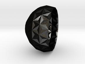concave bowl v3 in Matte Black Steel