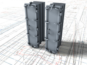 """1/48 Royal Navy 4.7"""" Ready Use Lockers (Tall) x2 in Smooth Fine Detail Plastic"""