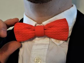 The Tri Bow Tie in Red Processed Versatile Plastic