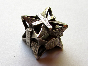 Fudge Pinwheel Die6 in Polished Bronzed Silver Steel