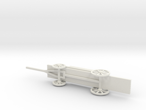 PONTOON TRESTLE WAGON in White Natural Versatile Plastic