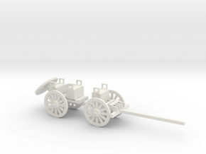 ARTILLERY LIMBER CAISSON in White Natural Versatile Plastic