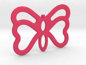 Butterfly Pendant / Necklace-23 in Pink Processed Versatile Plastic