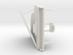 Mini Grand Piano in White Natural Versatile Plastic