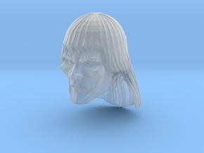 Barbarian Head 2 in Smooth Fine Detail Plastic