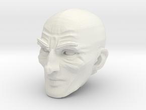 Bald Head 4 in White Natural Versatile Plastic
