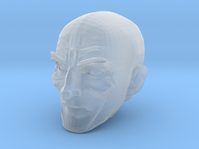 Bald Head 4 in Smooth Fine Detail Plastic