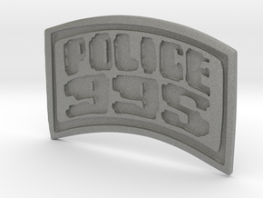 POLICE-995-badge (Uniform) in Gray PA12