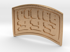 POLICE-995-badge (Wallet) in Natural Bronze