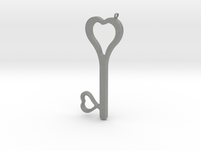 Hearts Key Necklace-25 in Gray Professional Plastic