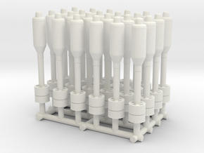 1/48 USN Hedgehog Projectiles Set x24 in White Natural Versatile Plastic